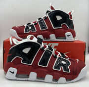 Nike Air More Uptempo And03996 Shoes Hoops Pack Bulls Red Black 921948-600 Mens Sz