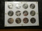 Canada 1965 Bu Sliver Dollars 12 Coins W/ Blunt 5 Pointed 5 Small Beads