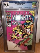 New Mutants Annual 2 Cgc 9.4 White Pages First Psylocke