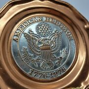 American Heritage 1776-1976 Copper Limited Edition Plate Bicentennial Sunkist