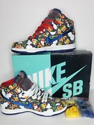 Nike Sb Dunk High Concepts Ugly Christmas Sweater 2017 881758-446 Size 9.5