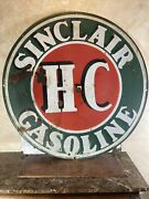 Large Original And Authentic And039and039sinclairand039and039 48 Inch Double Sided Porcelain Sign