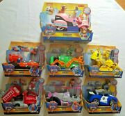 Paw Patrol The Movie Deluxe Transforming Vehicles Liberty Zuma Rocky Rubble +++