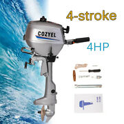 4 Stroke Fishing Boat Engine 4 Hp Outboard Motor 72cc Manual Start Water Cooling