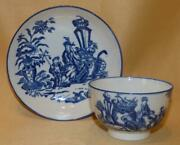 Caughley Blue And White Mother And Child And Bell Toy Teabowl And Saucer 2 C1776-90