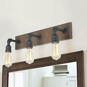 Lnc A03376 Bathroom Vanity Lights, Farmhouse Water Pipe Wall Sconces(3 Heads