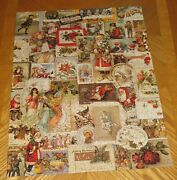 Christmas Reverie Old Cards Vintage Springbok 500 Piece Puzzle - Complete And Nice