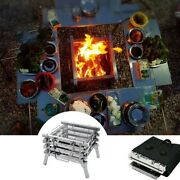 Stainless Steel Barbecue Grill Stove Portable Fold Outdoor Bbq Charcoal Cooker