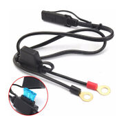 1pc Motorcycle Battery Terminal Ring Connector Harness 12v Charger Adapter Cable