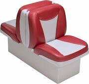 Back To Back Boat Seats With Base Gray Red Uv Convertible Marine Lounge Seating