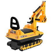 Ride On Excavator Toy Tractors Digger Movable Walker Construction Truck For 3y