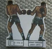 George Foreman 1973 Card Stand Up Boxer Boxing Italy Issue By Guido Crepax