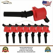 8 Ignition Coil Pack For Ford F150 Expedition 2000 2001 2002 2003 2004 4.6l/5.4l