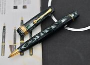 Omas Paragon Old Style Extra Arco Green Verde Celluloid Rollerball Pen Rb
