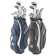 New Lady Wilson Magnolia Complete Golf Set W/ Driver Irons Putter And Cart Bag