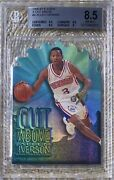 1996 Skybox Ex 2000 A Cut Above Allen Iverson Bgs 8.5 Iconic 90andrsquos Insert Low Pop
