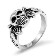 Ww2 German Army Cross Punk Ring 925 Sterling Silver Free Shipping Repro