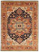Traditional Hand-knotted Oriental Carpet 8and03911 X 11and03910 Area Rug In Dark Navy