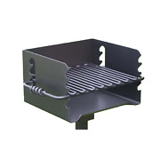 Pilot Rock Cbp 135 Park Style Steel Outdoor Bbq Charcoal Grill And Post Black