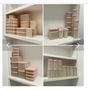 Huge Lot Of Vintage Strawberry Cream Pink Tupperware 172 Pieces