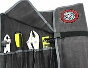 Defiance Tools 10 Pocket Tool Roll Up Bag Waterproof Organizer Tool Pouch Bag...