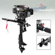 4-stroke Heavy Duty Outboard Motor 6hp Boat Engine Powerful Propeller Air Cooled