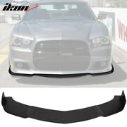 Fits 11-14 Dodge Charger Srt 3pcs Front Bumper Lip Body Protector Ikon Style Pu