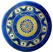 Blue Marble Coffee Table Top Marquetry Art Patio Table From Cottage Art 30 Inch
