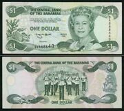 Beautiful 1996 Central Bank Of The Bahamas One Dollar Banknote P 57a Crisp Au+