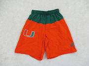 Miami Hurricanes Shorts Adult Small Green Orange College Basketball Mens A48