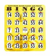 Mr Chips Jam-proof Quick-clear Easy-read Large Bingo Cards With Sliding Windo...