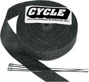 Cycle Performance Exhaust Wrap 2 X 100and039 Black