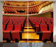 Ambesonne Musical Theatre Curtains China National Grand Theater Hall Chairs Aud