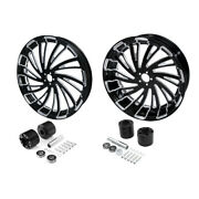 18and039and039 Front + Rear Wheel Rim W/ Disc Hub Fit For Harley Road King Glide 08-21 18