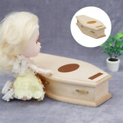 112 Dollhouse Miniature Coffin Baby Doll Furniture Supplies Scenery Accs