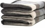 Alpaca And Sheep Wool Blanket, Soft And Thick, 72 X 88 Inches Full/queen, Earth