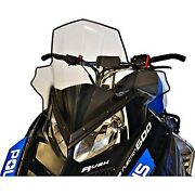 For Polaris Indy 600 13-17 Cobra Clear W Black Fade Mid Snowmobile Windshield