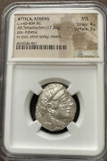 Attica Athens Owl Silver Tetradrachm Coin Mint State 2400 Yrs Old Low Price