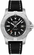 Breitling Avenger Automatic 43 Black Dial Steel Menand039s Watch A17318101b1x1