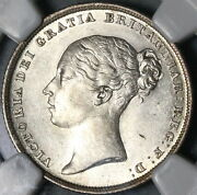 1839 Ngc Au 58 Victoria Shilling Ww Great Britain Silver Sterling Coin 16032501d