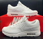 Nike Air Max Zero Essential Triple White Sneakers Shoes 876070-100 Mens Size