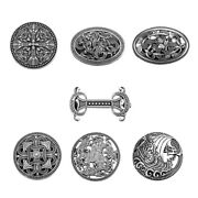 Viking Carved Symbol Brooches Pin Shawl Cloak Pin Wiccan Norse Jewelry