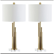 Safavieh Hopper Brass Gold Tiered Table Lamp Set Of 2 Tbl4060a New In Box