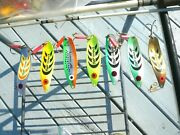 Lot Of 7 Mepps Syclops 3 Semi Rare Lures Beauties Cool Colors=chartreusse