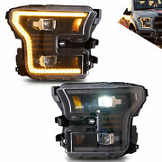 Vland Full Led Projector Headlights /w Sequential Turn For Ford F150 2015-2017