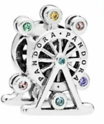 New Authentic Pandora Sterling Silver S925 Ale Colorful Ferris Wheel Charm