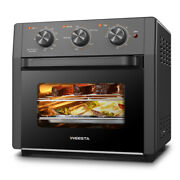 19qt Air Fryer Oven 4 Slice Toaster Stainless Steel Oil Free 3-layer Broil Bake