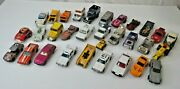 Lot Of 31 Vintage Hot Wheels-matchbox-ertl And More Cars-trucks- Mostly 1970's