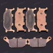 Brand New Front Rear Metal Brake Pads Fit For Yamaha Fz6 Fz-6s Fz-6n 2004-2007