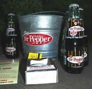 Dublin Dr Pepper Souvenir Bucket With Dp And Bottle Opener, Etc.-new Unwrapped